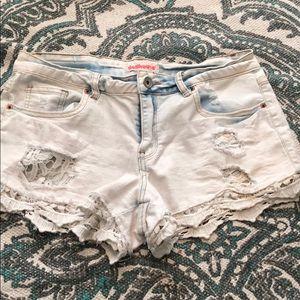 Dollhouse distressed shorts